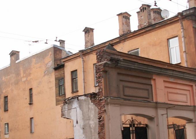 остатки здания