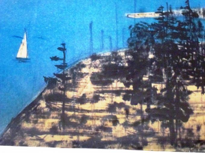Ёлки на берегу